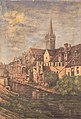 """Ucciani.Pierre (tabl) 1910 Caen """"église saint Pierre,(huile sur toile) 44x64, archives départ calvados (prêt) coll. Ucciani PDLM.jpeg"""