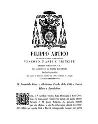 Filippo Artico: Lettera circolare al clero e al popolo della diocesi relativa al proclama regio successivo all'inizio della guerra del Regno di Sardegna contro l'Impero austriaco