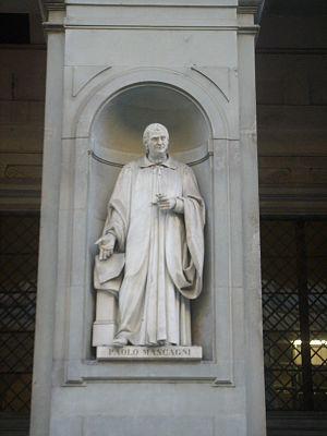 Paolo Mascagni - The statue of Mascagni at the Uffizi