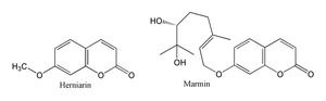 Umbelliferone - Herniarin and marmin, umbelliferone derivatives