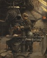 Un Patron or The lesson of the Apprentice (Eugène Buland) - Nationalmuseum - 132585.tif