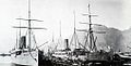 Union Castle Liners in Cape Town Harbour - early 1900s.jpg