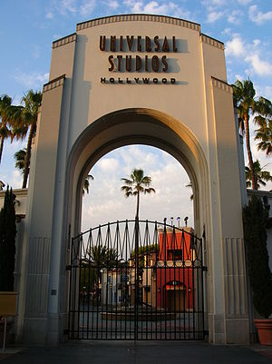 The main entrance to Universal Studios Hollywo...