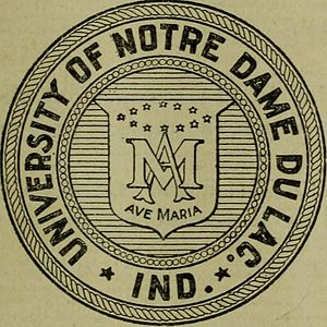 History of the University of Notre Dame - The Old seal of the University of Notre Dame (1876-1901)