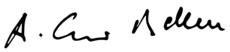 Unterschrift von Alexander Van der Bellen