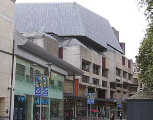 St David's Hall - The Upper floors of St David's Hall with St. David's shopping centre on the ground floor