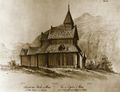 Urnes stave church, Dahl.jpg