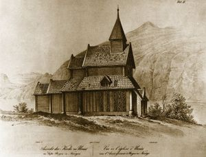 Urnes Stave Church - Image: Urnes stave church, Dahl
