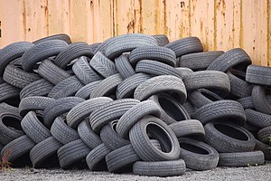 Waste tires - Used tyres (2) - geograph.org.uk - 917186