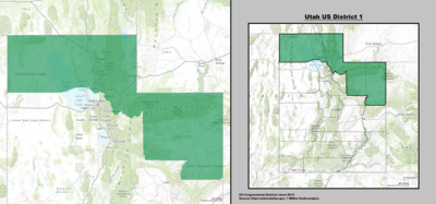 Utahs Congressional Districts Wikipedia - Utah On The Us Map