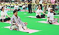 V.P. Singh Badnore and the Union Minister for Textiles, Smt. Smriti Irani performing Yoga, on the occasion of the 4th International Day of Yoga 2018, in Chandigarh.JPG