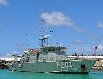 Tongan Maritime Force - Image: VOEA Neiafu (P201)