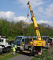 Valenciennes & Anzin - Déraillement de la rame de tramway n° 17 à la sortie du dépôt de Saint-Waast le 11 avril 2014 (070).JPG