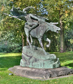 Churchillparken - Valkyrie (1908) by Stephan Sinding
