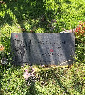 Maila Nurmi - Grave of Vampira at Hollywood Forever