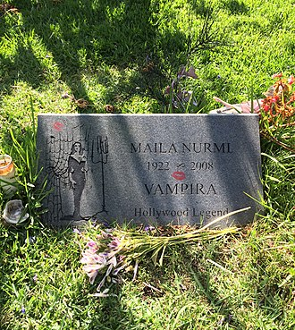 Maila Nurmi - Grave of Vampira at Hollywood Forever