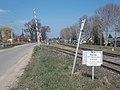 Vasútállomás, Pápai Pályagazdálkodási Főnökség szakaszhatára, 2019 Kisbér.jpg