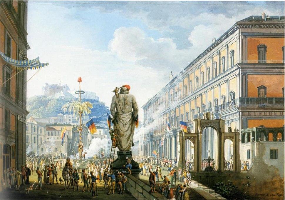 Veduta di Santa Lucia (Largo di Palazzo) e San Martino, Napoli,1799