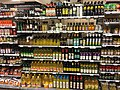 Vegetable oils etc. aisle in Meny Supermarket in Bergen Storsenter Shopping Mall, Bergen, Norway 2017-10-23 a.jpg