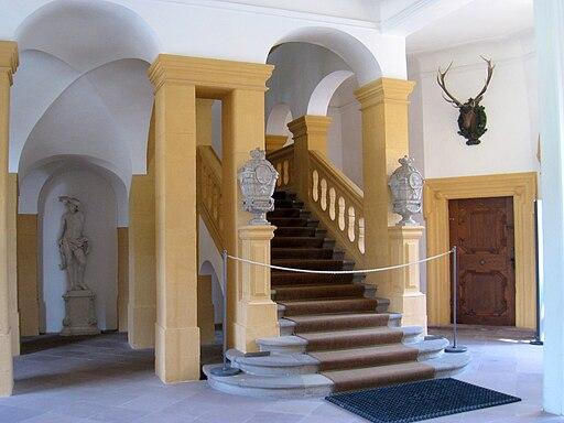 Veitshöchheim innen: Treppe, summer palace - IMG 6655