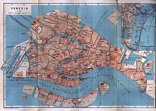 Venice center 1913 map
