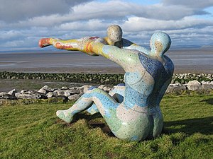 Venus and Cupid (sculpture) - The sculpture, seen in 2007 at Morecambe
