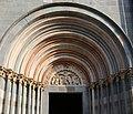 Vercelli, sant'andrea, esterno, facciata, seguace dell'antelami, crocifissione, 1220 ca. 01.jpg