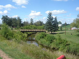 Vermilion River (Alberta) - The Vermilion River in Vegreville