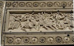 Veroli Casket - Image: Veroli casket lid detail