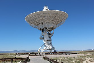Karl G. Jansky Very Large Array - Image: Very Large Array dish scale