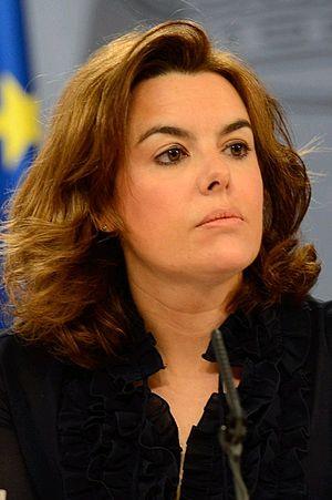Deputy Prime Minister of Spain - Image: Vicepresidenta Soraya Sáenz de Santamaría 2012 La Moncloa (Recortada)