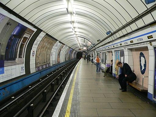 Victoria Line southbound platform, Victoria LU station