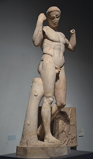 Vaison-la-Romaine - Image: Victorious Athlete The Vaison Daidoumenos, Hadrianic version of 5th century BC Greek original, Winning at the ancient Games, British Museum (7376192560)