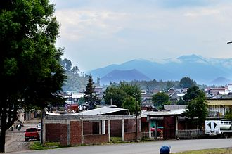 Parícutin - View of the volcano from the town of Angahuan