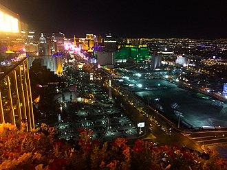 2017 Las Vegas shooting - Image: View from the Foundation Room (24089601122)