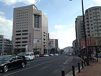 View in front of East Entrance of Sasebo Station 20141230-5.JPG
