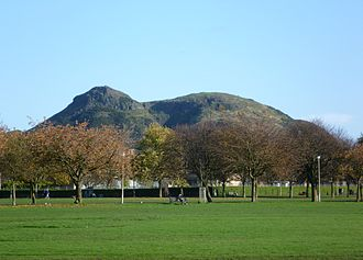 The Meadows (park) - View of Arthur's Seat from the Meadows