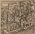 View of Rhodes, during its siege by the Ottomans, 1480 - Johannes Adelphus - 1513.jpg