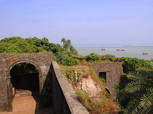 Vasai Creek - View of Vasai creek from the fort's watch tower