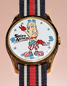 Vintage Spiro Agnew Character Wrist Watch By Dirty Time Company, Swiss-Made, Circa 1970 (14100106694).jpg
