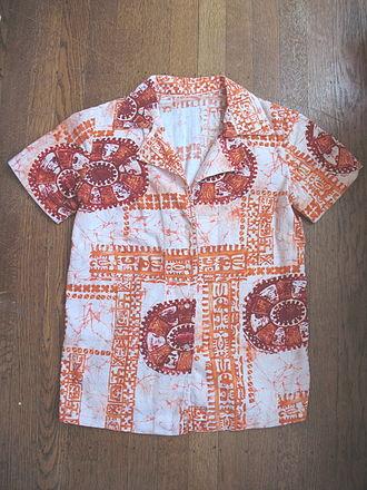 Aloha shirt - A vintage aloha shirt, circa 1960.