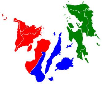 Visayas - Image: Visayas regions