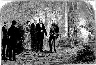 Patrice de MacMahon, Duke of Magenta - Visit of the President-Marshal to the Emperor and Empress of Brazil, in Paris (L'Univers illustré,nº 1.153, 28/04/1877).
