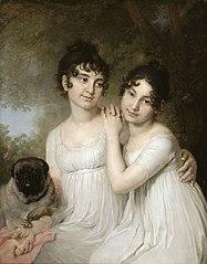 Les Princesses Ielena et Alexandra Kourakine, filles d'Alexandre Borissovitch Kourakine