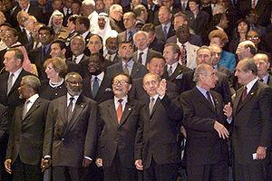 NEW YORK. Participants in the Millennium Summi...