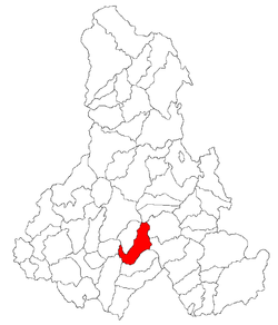 Location of Vlăhiţa