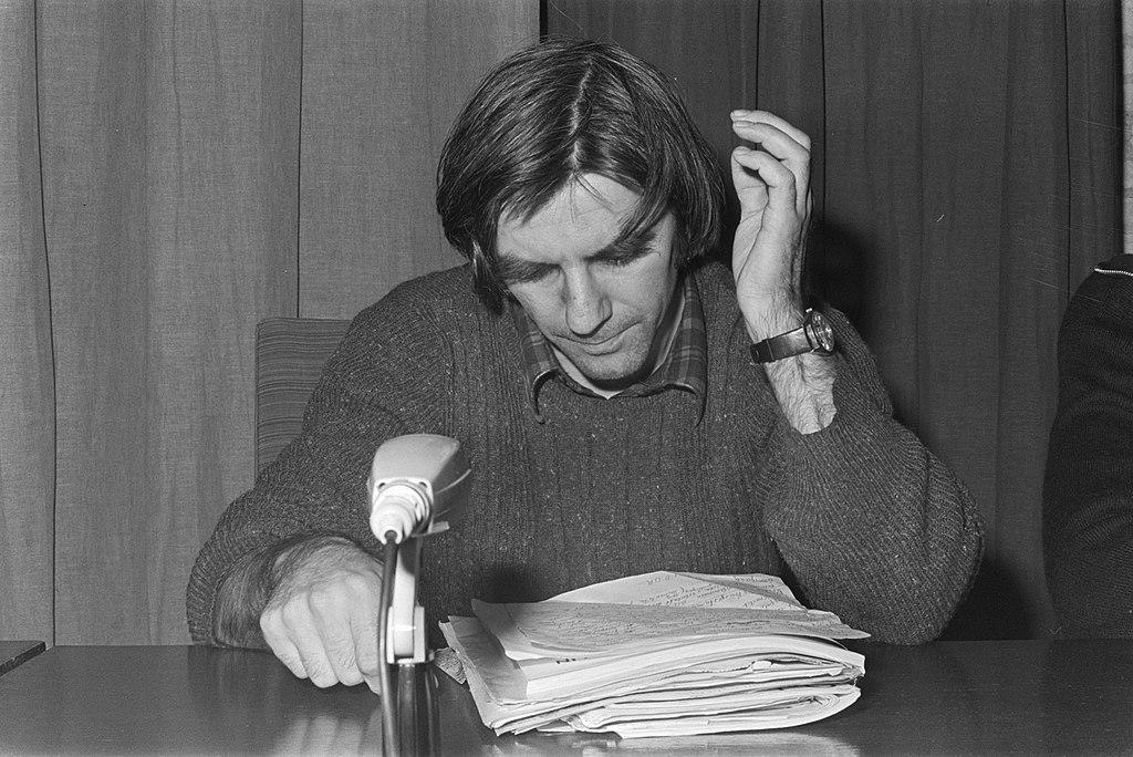 Voormalige Westduitse studentenleider Rudie Dutschke, geeft lezing op Katholieke, Bestanddeelnr 928-4129.jpg