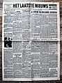 """Voorpagina Vlaams dagblad """"Het Laatste Nieuws"""" 20 April 1943.jpg"""