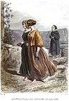 Voyage Pittoresque Énault - Gravure Gavarni (Jeunes filles des environs de Glasgow).jpg
