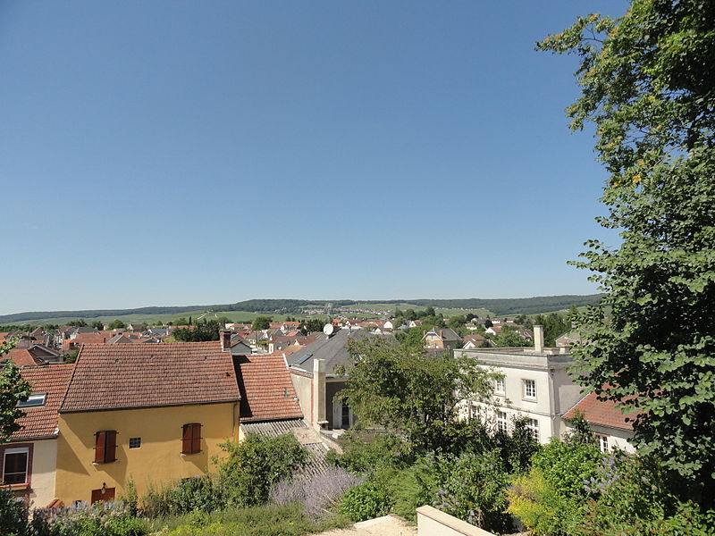 View from the church of Dizy (Marne).